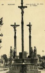 Plouaret - Statue de Luzel barde breton 22 Plouaret