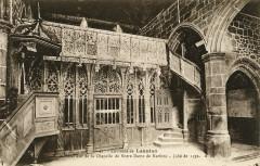 Ploubezre - Chapelle Notre-Dame de Kerfons qui renferme le fameux jubé de 1352 - Ploubezre
