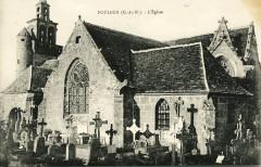 Plouisy - Pilastres de la grille d'entrée au château de Carnabat - Plouisy