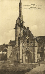 Ploumilliau - Clocher de l'église paroissiale - Ploumilliau