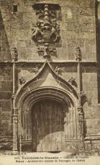 Pommerit-le-Vicomte - Chapelle du Paradis portail - Pommerit-le-Vicomte