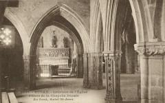 Runan - Intérieur de l'église piliers de la chapelle ducale - Runan