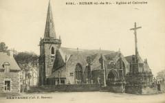 Runan - Eglise et calvaire - Runan