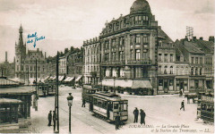 La Grande Place et la Station des Tramways - Tourcoing