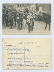Carte postale d'Eugène Le Marec, photo du 3e dragons au début de la guerre et récit de sa guerre