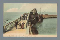 Biarritz - Le Rocher de la Vierge et la Passerelle (titel op object), Rp-F-F19783