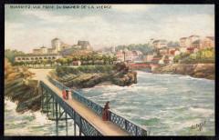 Biarritz. Vue prise du Rocher de la Vierge (NBY 440817)