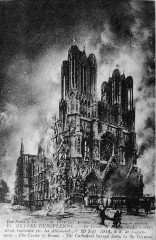 19 Sept 14 incendie cathedrale reims 5084 France