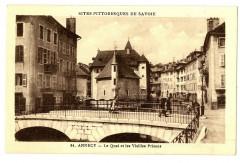 Haute-Savoie Annecy Le Quai et les Vieilles Prisons animé - Annecy