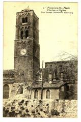 Alpes-de-Haute-Provence Moustiers-Sainte-Marie Clocher et Eglise - Moustiers-Sainte-Marie