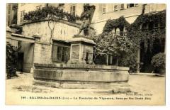 Jura Salins-les-Bains La Fontaine du Vigneron - Salins-les-Bains