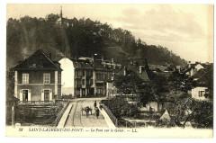 Isère Saint-Laurent-du-Pont Le Pont sur le Guiers animé - Saint-Laurent-du-Pont