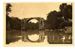 Hérault Lunel Ruines du Pont Romain sur le Vidourle - Lunel