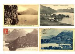 Haute-Savoie lac d'Annecy Lot de 4 cartes - Annecy
