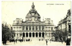 Loire Saint-Etienne L'Hôtel de Ville animé - Saint-Étienne