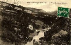 Doubs Les gorges du Doubs à la Prise d'eau du Refrain - Doubs