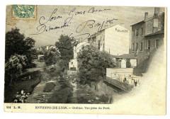Rhône Oullins vue prise du Pont - Oullins