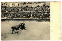 Gard Nîmes Courses de taureaux Passe de manteau animé - Nîmes