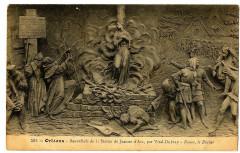 Loiret Orléans Bas relief  Vital-Dubray Jeanne d'Arc Rouen le Bûcher - Orléans