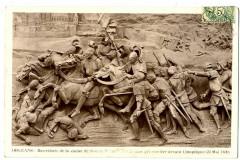 Loiret Orléans Bas relief Jeanne d'Arc devant Compiègne - Orléans
