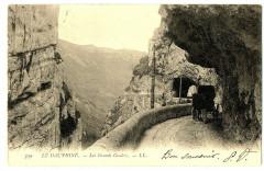 26 Drôme Les Grands-Goulets Tunnel animé calèche 26 Saint-Martin-en-Vercors