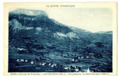 Savoie Bauges Les déserts Vue générale et Mont-Margéria - Les Déserts