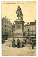 Jura Lons-le-Saunier Statue du Général Lecourbe animé - Lons-le-Saunier