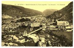 Jura Saint-Claude Le Pont suspendu La Grenette et vue générale - Saint-Claude