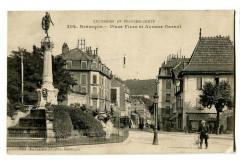 Doubs Besançon Place Flore et Avenue Carnot animé - Doubs