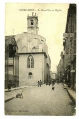 Drôme Montélimar La Grand'Rue et l' Eglise animé - Montélimar