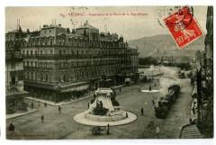 Drôme Valence Panorama de la Place de la République animé train - Valence