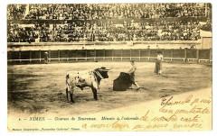 Gard Nîmes Courses de taureaux Minuto à l'estocade animé - Nîmes