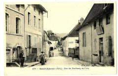 Jura Saint-Amour Rue du Faubourg de l'Ain animé - Saint-Amour