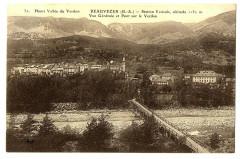 Alpes de Haute-Provence Beauvezer Vue générale et Pont sur le Verdon - Beauvezer
