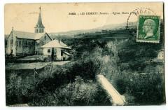 Savoie Bauges Les déserts Eglise Mairie et Poste - Les Déserts