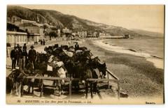 Alpes-Maritimes Menton Les ânes pour la Promenade animé - Menton