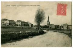 Loire Usson-en-Forez Vue prise de la Route de St-Pal - Usson-en-Forez