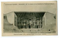 Vaucluse Orange La Scène et les Gradins du Théâtre Antique Reconstitution - Orange