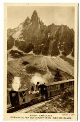Haute-Savoie Chamonix Chemin de fer du Montenvers Mer de Glace train - Vers