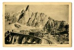 Haute-Savoie Chamonix Chemin de fer du Montenvers et Aiguille du Dru - Vers