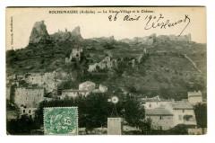 Ardèche Rochemaure Le vieux Village et le Château - Rochemaure