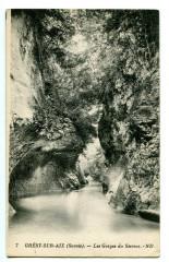 Savoie Grésy sur Aix Les Gorges du Sierroz - Grésy-sur-Aix