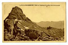 Hautes-Alpes Pic de Rochebrune Vallée de Cerveyrette carte publicitaire - Rochebrune