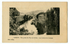 Herault Lodève Vue prise du pont de Celles Les Bords de la Lergue - Lodève