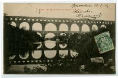 Gard Remoulins Le Pont du Gard Vu de face - Remoulins