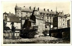 Auvergne 03 Allier Château de Lapalisse et Pont sur Besbre carte-photo - Lapalisse