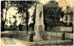 Monument élevé à la mémoire des Morts pour la Patrie (Guerre 1914 - 1918) - Le Vilhain