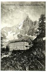 Haute-Savoie Chamonix L'Aiguille du Dru et Hôtel Montenvers - Vers