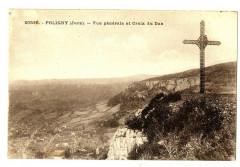 Jura Poligny Vue générale et Croix du Dan - Poligny