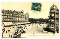 Herault Montpellier Perspective de la Place de la Comédie animé - Montpellier